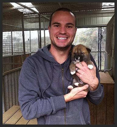 Bradley Smith and Dingo Pup