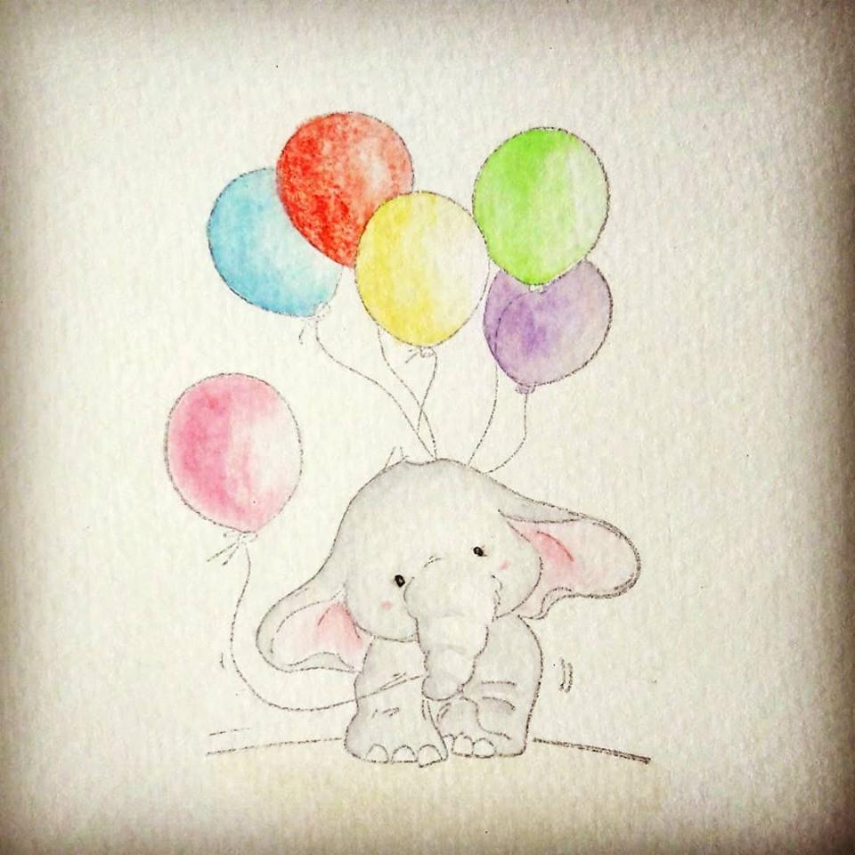 Mr Elephant - Carte d'anniversaire