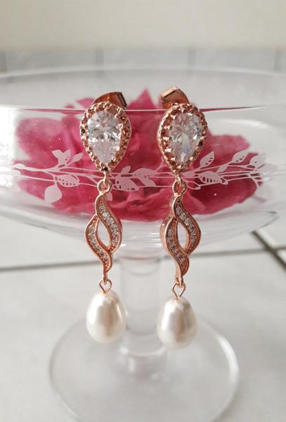 "Boucles d'oreilles ""Marquise Pearl"""