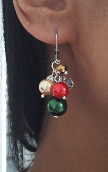 "Boucles d'oreilles ""Christmas Grape"""