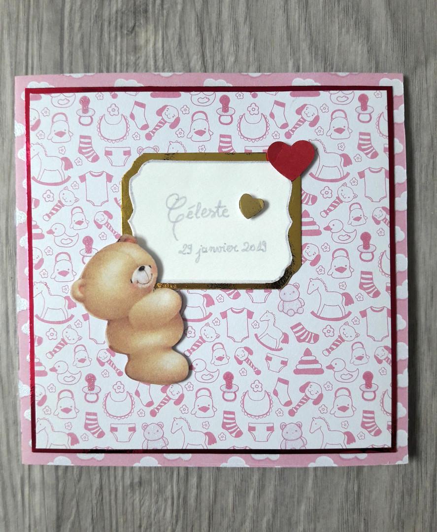 Carte de félicitations naissance