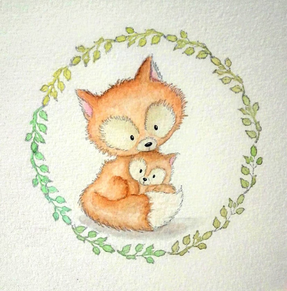 Mrs and Baby Fox