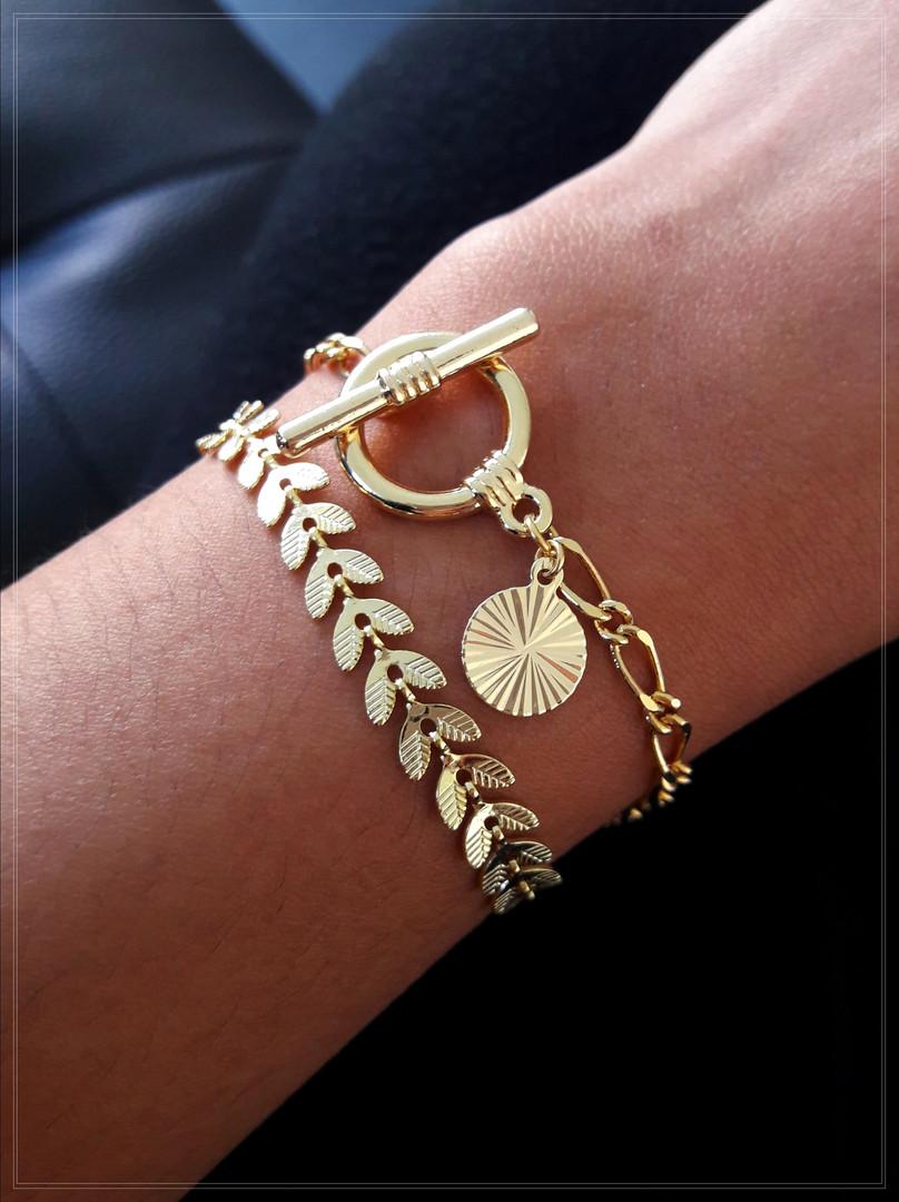 Bracelet Toggle & Epi doré