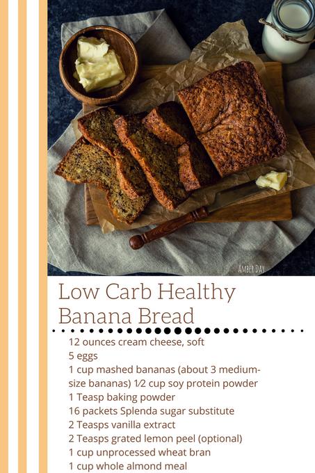 Low-Carb Healthy Banana Bread