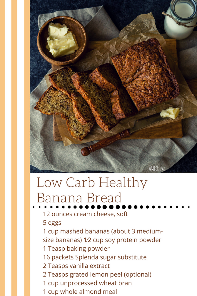 Low-Carb Healthy Banana Bread