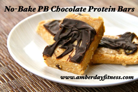 No-bake Peanut Butter Chocolate Protein Bars