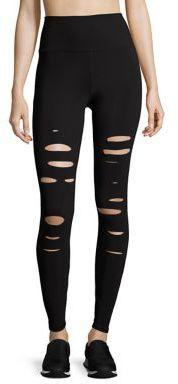 Alo Yoga Alo Yoga High-Waist Ripped Warrior Leggings