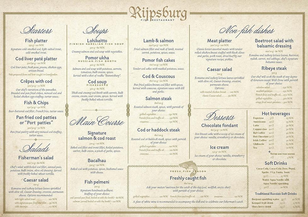 Rijpsburg menu