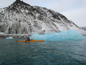 Kayaking in Barentsburg, Icebergs