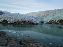 Kayaking near Glaciers
