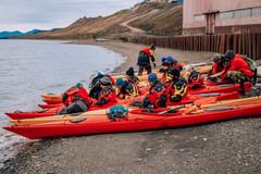 Kayaking in Barentsburg