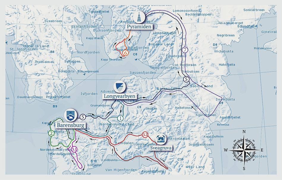 Map of the tour Next to the Northpole