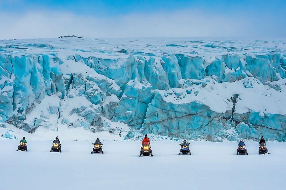 Svalbard snowmobiling