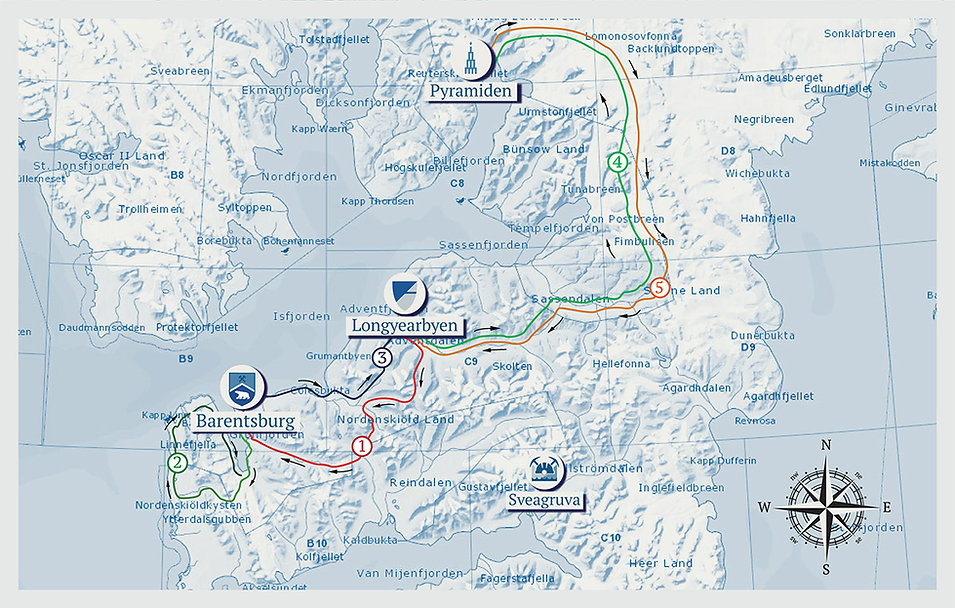 Svalbard Stories Map of the tour