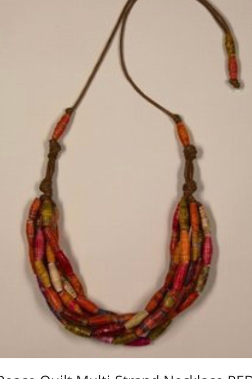 Peace Quilt Multi - Strand Necklace