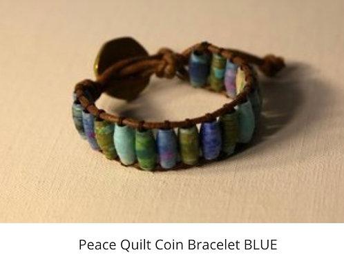 Peace Quilt Coin Bracelet