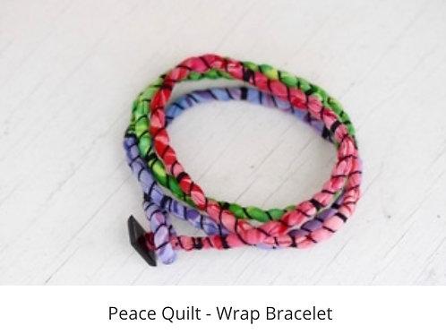 Peace Quilt - Wrap Bracelet