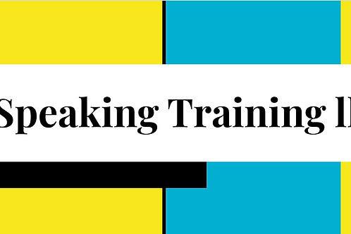 Speaking Training II.