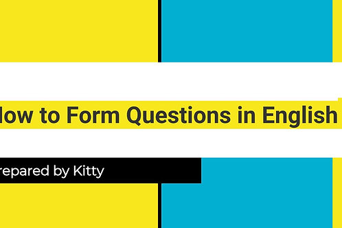 How to Form Questions in English