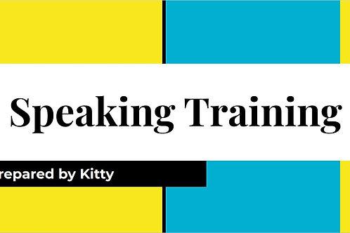 Speaking Training