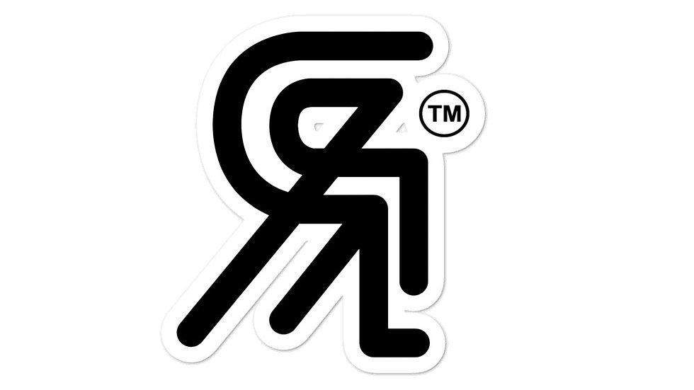 Backwards R . Sticker