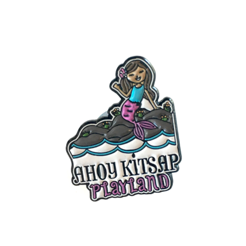 Ahoy Kitsap Mermaid Pin