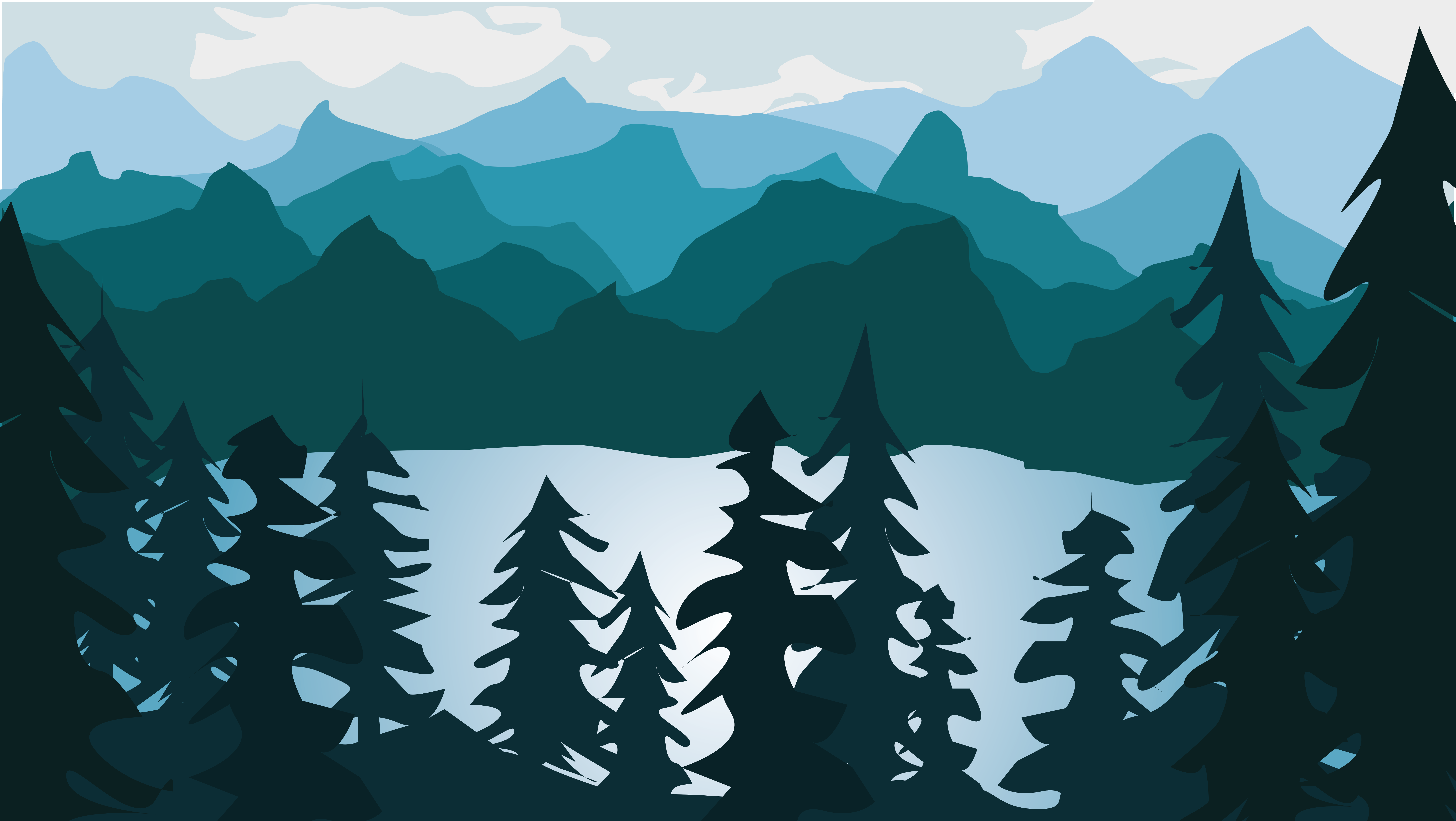 "Paysage vectoriel ""flat design"" AT2"