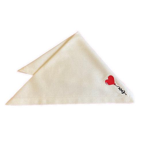 Guardanapo bordado Love Balloon