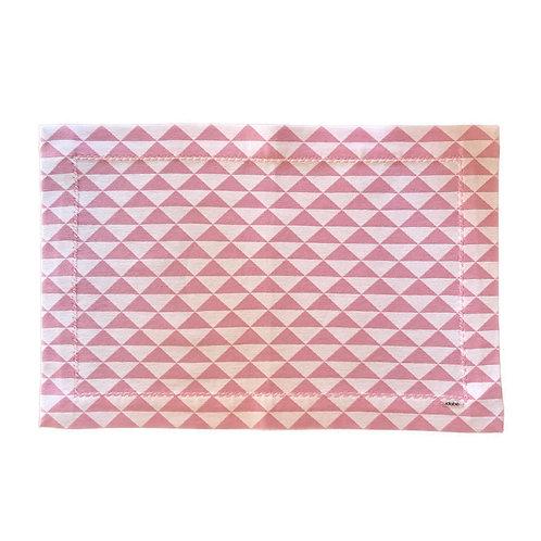 Jogo Americano Triângulos Rosa