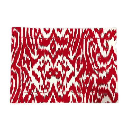 Jogo Americano Vermelho Abstrato