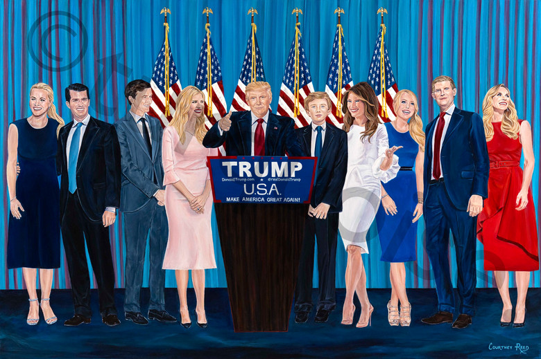 Trump Family Painting