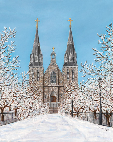St. Thomas of Villanova Winter Church Painting