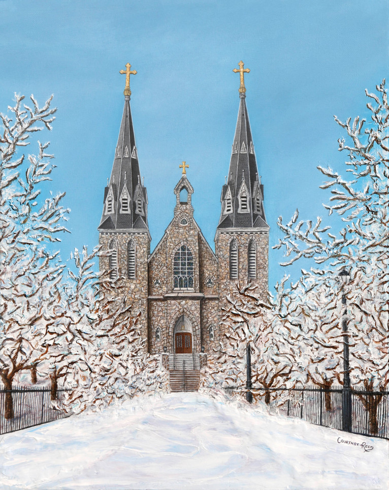 St. Thomas of Villanova Winter Church Painting