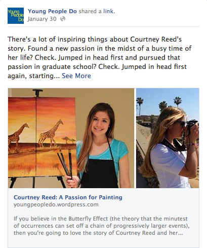 Young People Do | COURTNEY REED: A PASSION FOR PAINTING