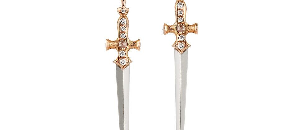 Sovereign Dagger Hook Earrings