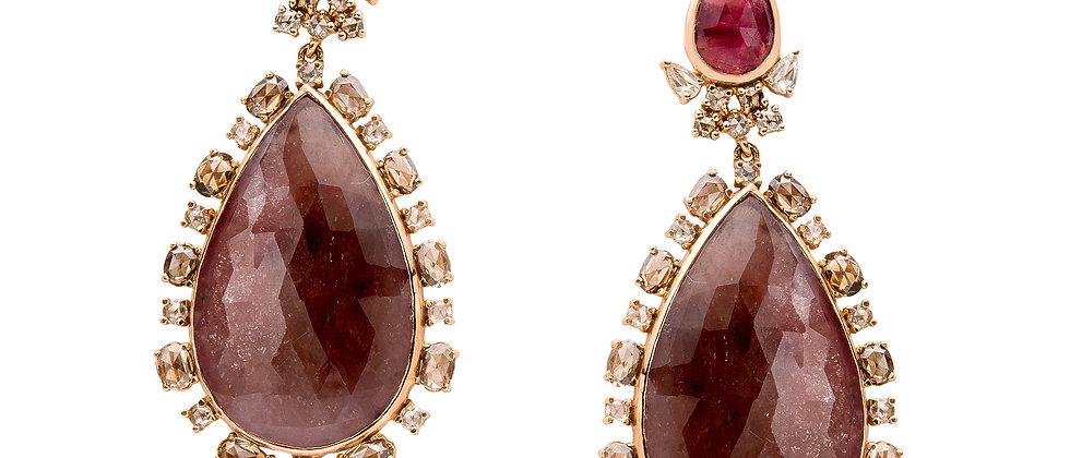 Bohemian Rhapsody Pink Champagne Earrings