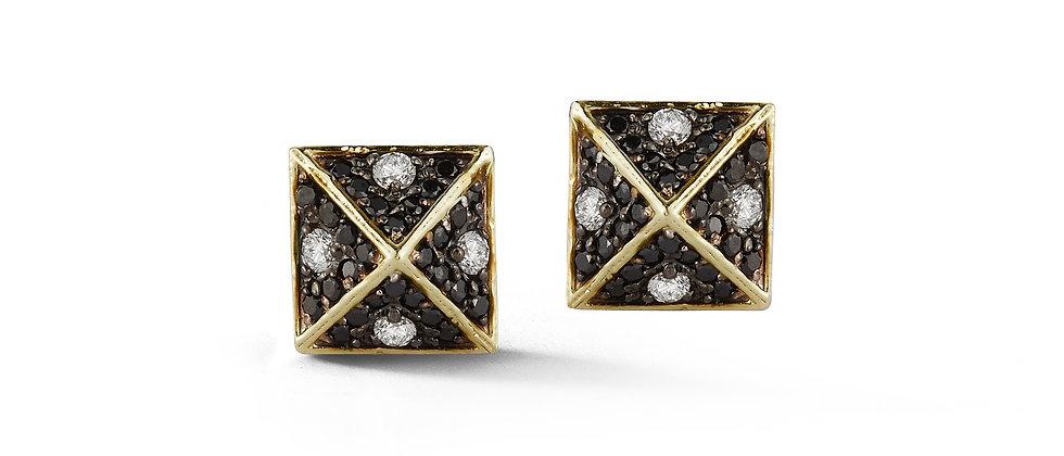 Sovereign Pyramid Stud Earrings