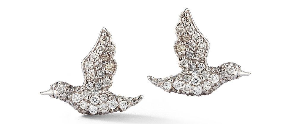 Night Sky Swallow Earrings