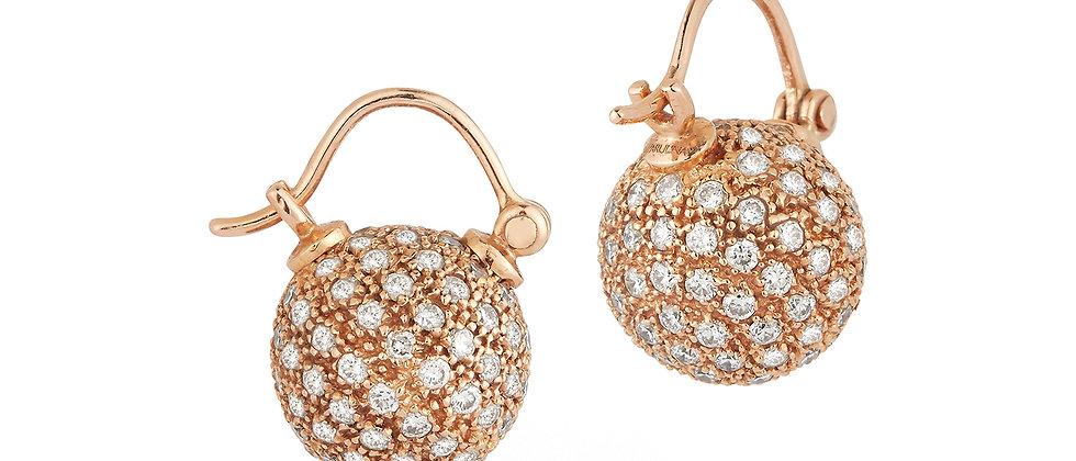 Ecclesia Diamond Ball Earrings