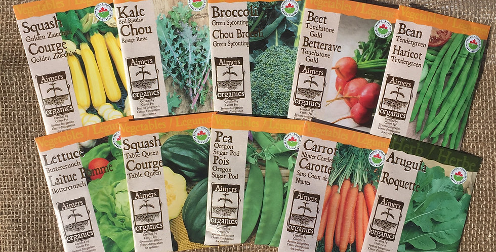 ORGANIC 10 PACK SEED BUNDLE