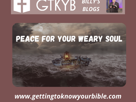 Peace For Your Weary Soul