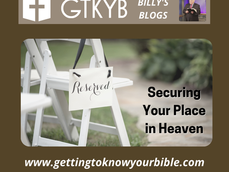 Securing Your Place In Heaven