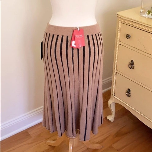 Pure Collection Knit Stripe Skirt