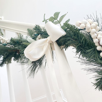 Elegant Holiday Banister