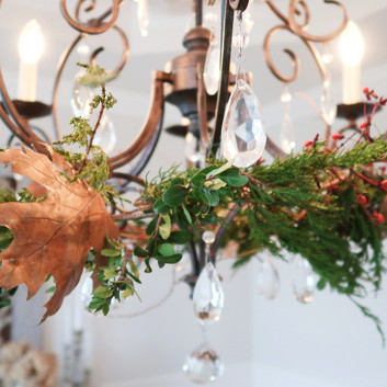 Chandelier Autumn Wreath
