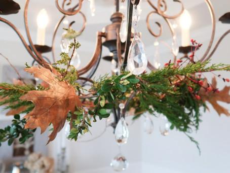 Chandelier Autumn Wreath