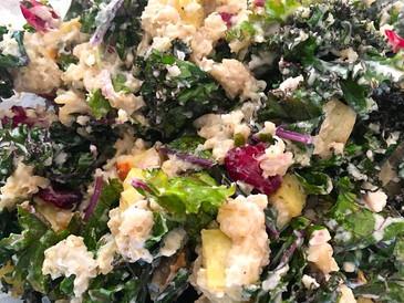 Kale with Sweet Potato Salad