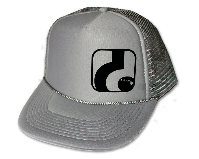 d Logo - Gray Trucker Hat (black logo shown , neon yellow also available)