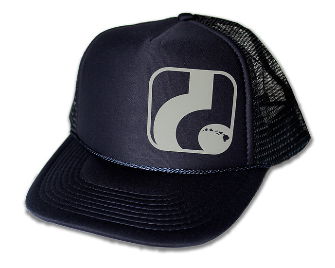 d Logo - Navy Trucker Hat (gray logo shown, more colors are available)