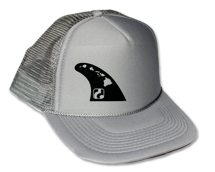 Fin - Gray Trucker Hat (black logo shown, neon yellow also available)